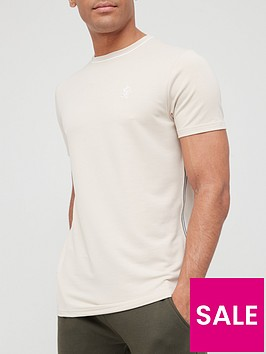 gym-king-ash-taped-t-shirt-sandstonenbsp
