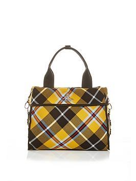 vivienne-westwood-charlie-folding-shopper-bag-yellownbspmulti