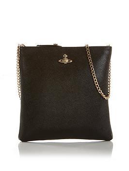 vivienne-westwood-victoria-square-chain-cross-body-bag-black