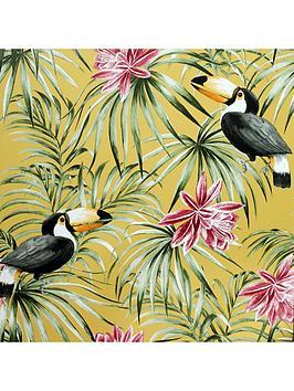 arthouse-toucan-ochre-wallpaper