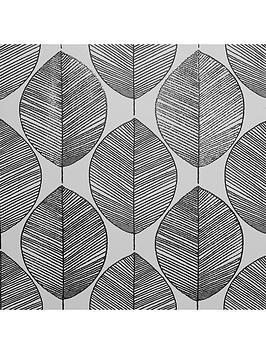 arthouse-scandi-leaf-black-white-wallpaper