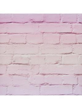 arthouse-ombre-brick-pastel-pink-wallpaper