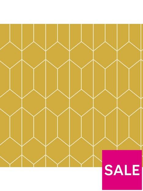 arthouse-linear-geo-ochre-wallpaper