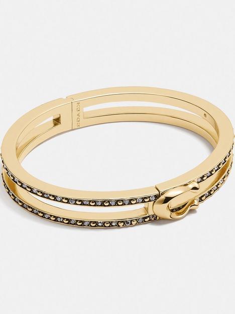 coach-double-row-pave-c-bracelet-gold