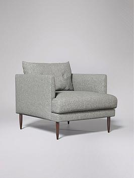 Swoon Kalmar Fabric Armchair - Soft Wool