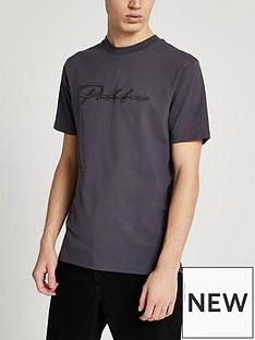 river-island-short-sleeve-slim-prolific-t-shirt-dark-grey