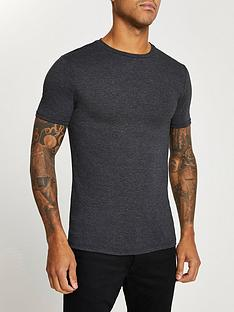 river-island-muscle-fit-sleeve-t-shirt-charcoal