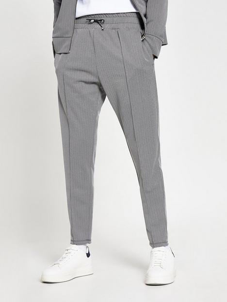 river-island-maison-riviera-slim-fit-jogger-grey
