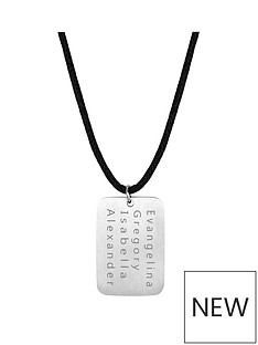 mens-personalised-brushed-steel-dog-tag-pendant-necklace