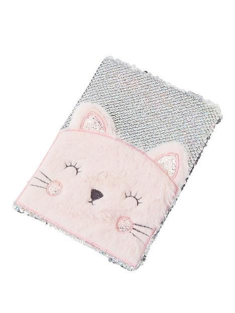 accessorize-cat-fluffy-sequin-notebook