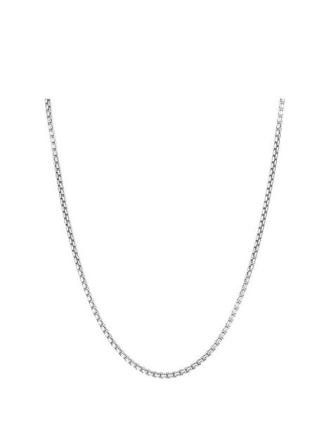the-love-silver-collection-sterling-silver-rounded-adjustable-box-chain