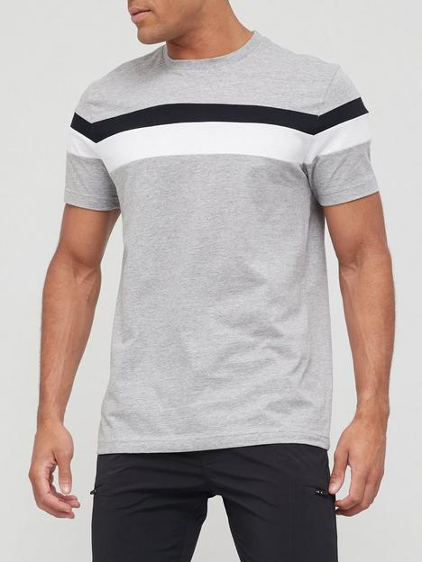very-man-cut-n-sew-t-shirt-grey-marl