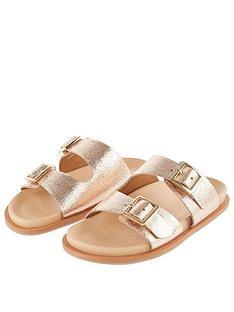monsoon-girls-buckle-leather-slider-sandal-rose-gold