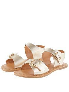 monsoon-girls-buckle-leather-sandal-gold