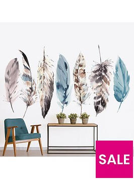art-for-the-home-watercolour-feathers-wall-muralnbsp