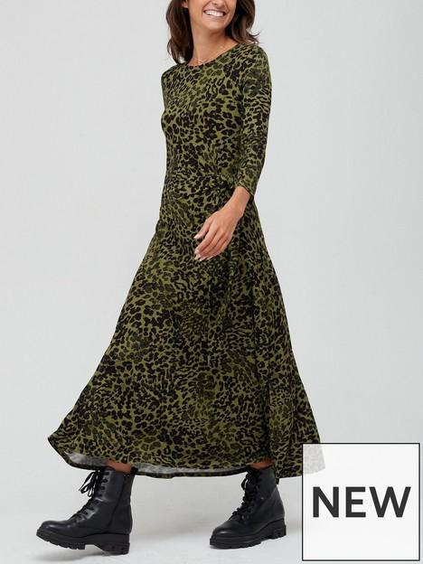 v-by-very-jersey-tie-waist-midi-dress-leopard-print
