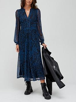 v-by-very-mesh-midi-dress-blue-animal-print
