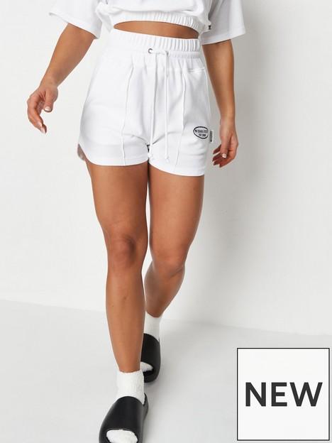 missguided-missguided-waffle-deep-waistband-runner-shorts-mg