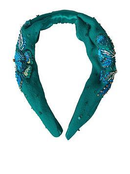 Joe Browns Coral Reef Sparkle Headband - Teal, Teal, Women