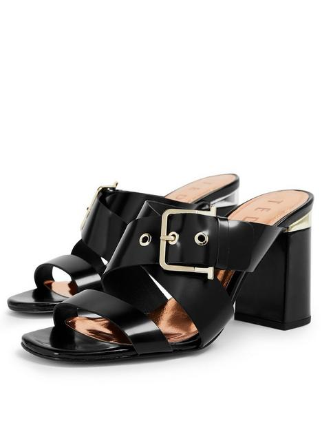 ted-baker-buckle-mule-sandal-black
