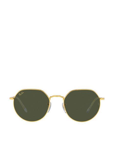 ray-ban-jack-round-sunglasses-gold