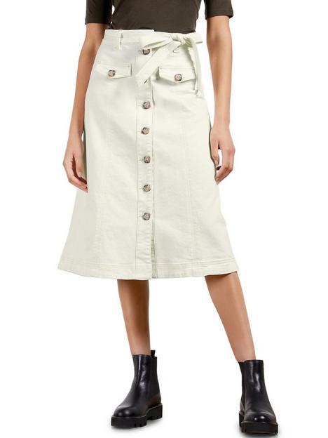 ted-baker-denimnbspanbspline-button-front-skirt-cream