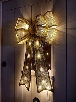 gold-litnbspdoor-bow-christmas-decoration