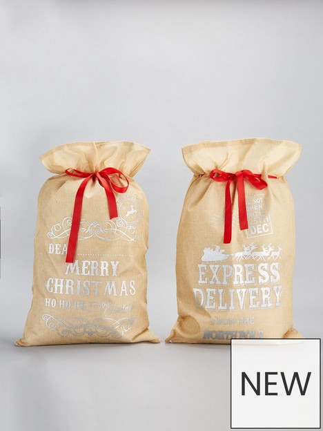 set-of-2nbspfestive-hessiannbspchristmasnbsppresent-sacks