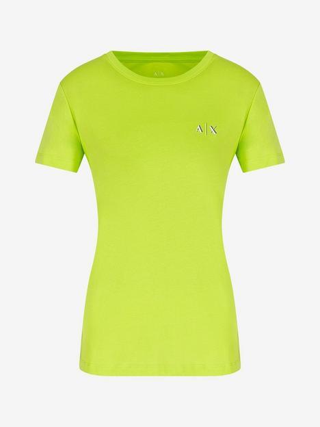 armani-exchange-100-cotton-small-logo-t-shirt-green