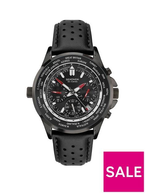 sekonda-sekonda-black-world-time-dial-black-strap-watch