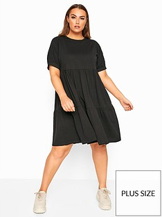 yours-yours-limitednbsptiered-cotton-smock-dress
