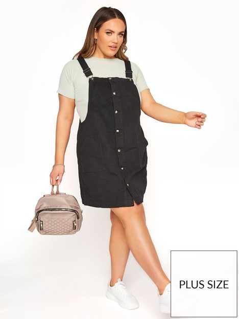 yours-yours-limitednbspbutton-frontnbsppinafore-dress-black