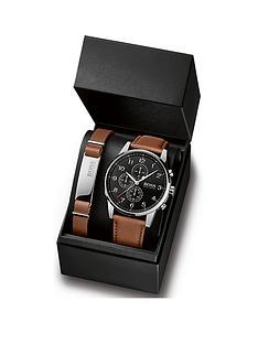 boss-boss-black-multi-dial-tan-strap-watch-bracelet-gift-set