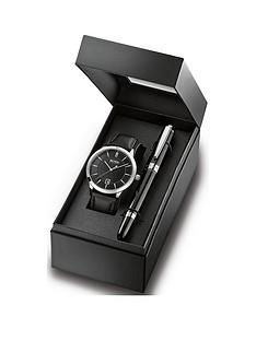 boss-boss-black-date-dial-black-strap-watch-pen-gift-set
