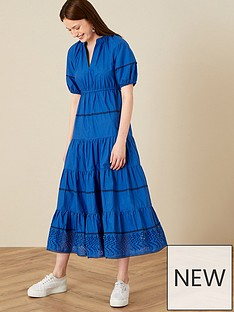 monsoon-cobalt-cotton-midi-dress
