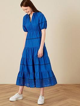monsoon-cobalt-cotton-midi-dress