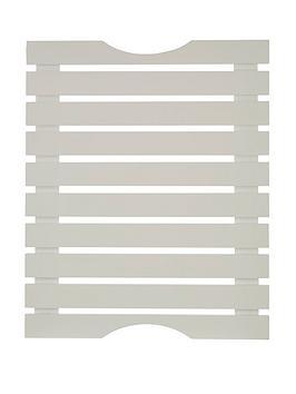 Product photograph showing Premier Housewares Slatted Duckboard White Wood Matte Finish