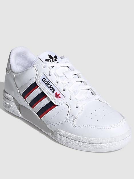 adidas-originals-unisex-junior-continental-80-stripes-trainers-white