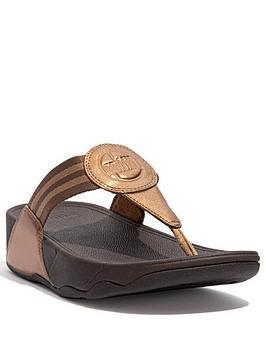 Fitflop Walkstar Flip Flops - Bronze, Bronze, Size 4, Women