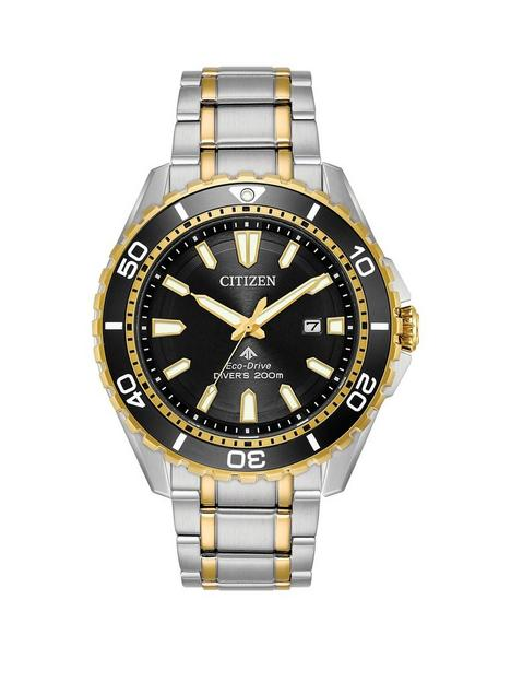 citizen-citizen-promaster-black-dial-stainlesssteel-and-gold-tone-mens-bracelet-watch