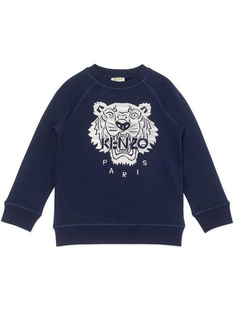 kenzo-boy-tiger-logo-sweatshirt-navy