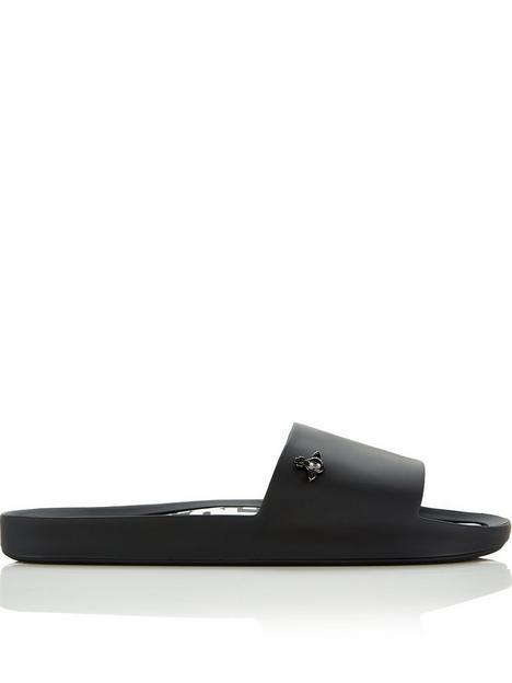 melissa-x-vivienne-westwoodnbsporb-beach-slides-black