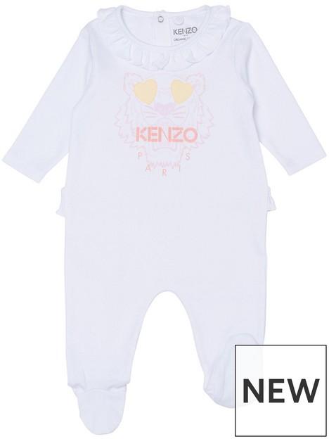 kenzo-baby-girl-tiger-babygrow-white