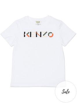 kenzo-boys-logo-t-shirt-white