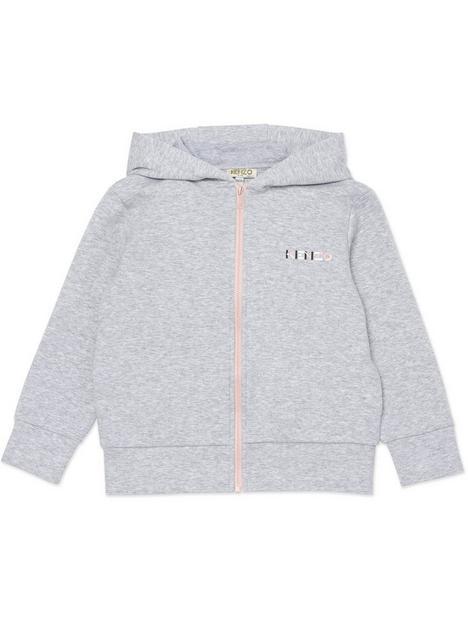 kenzo-girls-k-logo-hoodie-grey-marl