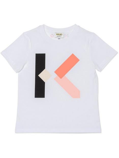kenzo-girls-k-logo-t-shirt-white