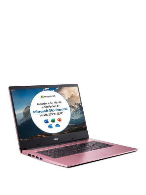 acer-aspire-1-intel-celeron-4gb-ram-64gb-storage-14in-fhd-ips-laptop-with-microsoft-365-personal-included-and-optional-norton-360-pink
