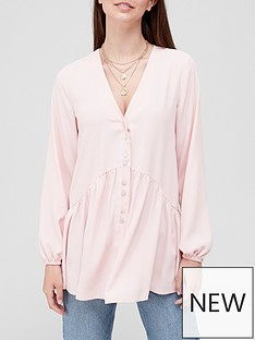v-by-very-longline-button-detail-tunic-blush