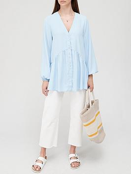 v-by-very-longline-button-detail-tunic-soft-blue