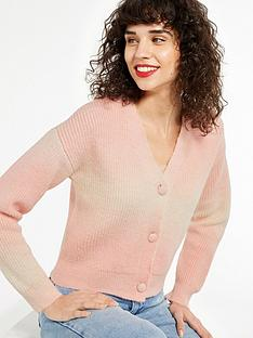 new-look-ombre-knit-cardigan-pink